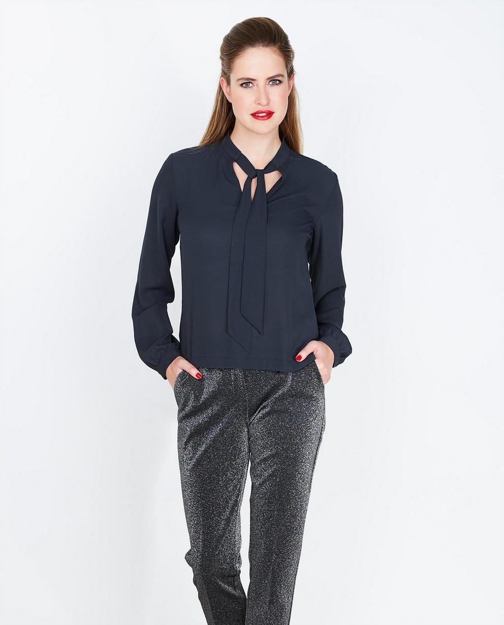 Pantalon noir habillé - avec un fil métallisé - JBC